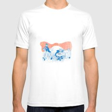 Freud and Halsted White SMALL Mens Fitted Tee