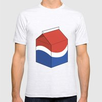 Pepsi in a box Mens Fitted Tee Ash Grey SMALL