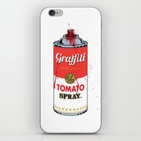 Graffiti Tomato Spray Can iPhone & iPod Skin