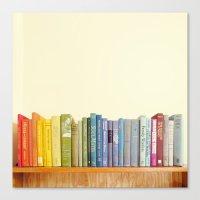 Rainbow Library Canvas Print