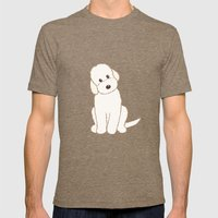 Cream Labradoodle Dog Il… Mens Fitted Tee Tri-Coffee SMALL