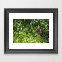 Bluebell Feline  Framed Art Print