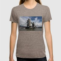 Tower Bridge, London Womens Fitted Tee Tri-Coffee SMALL