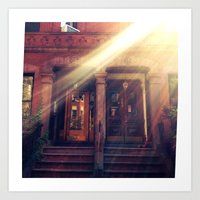 Doors with Flare Art Print