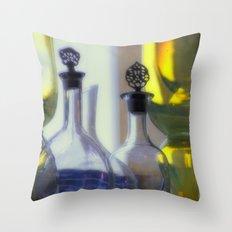 Pastel Glassware Throw Pillow
