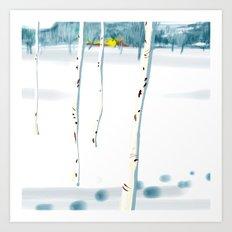 Betulle nella neve Art Print