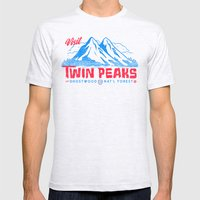 Visit Twin Peaks (hot Pi… Mens Fitted Tee Ash Grey SMALL