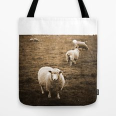 Sheep in a field Tote Bag