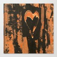 Liquid Copper Heart  Canvas Print