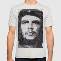 Che Guevara Mens Fitted Tee Silver SMALL