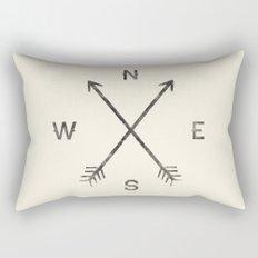 Compass (Natural) Rectangular Pillow