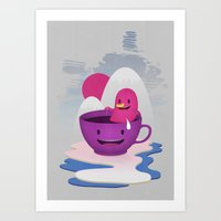 Reflections In Coffee Art Print