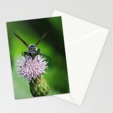 Bee and a flower Stationery Cards