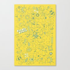 Super Mega Turbo Doodle Power Canvas Print