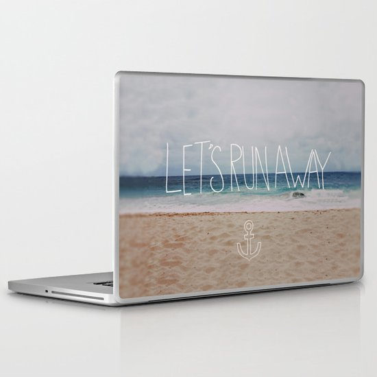 Let's Run Away: Sandy Beach, Hawaii Laptop & iPad Skin