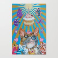 doggie birthday party Canvas Print