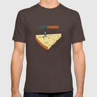 Slice Fishing Mens Fitted Tee Brown SMALL