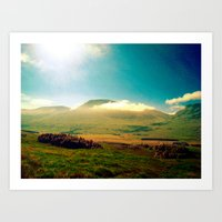 Morning Clouds In Scotla… Art Print
