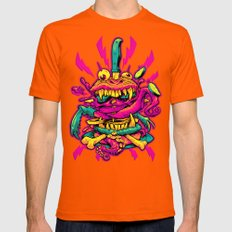 BEASTBURGER 2: ELECTRIC … Mens Fitted Tee Orange SMALL
