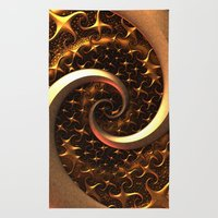 Golden Spirals Rug
