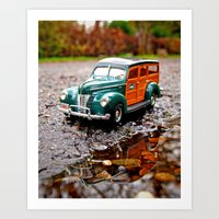 Roadside Woody Art Print