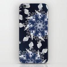 Damask blue iPhone & iPod Skin