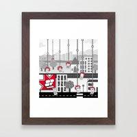 SF Mobile World Framed Art Print