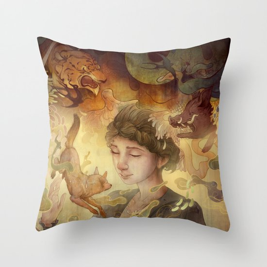 Silent Visions Throw Pillow