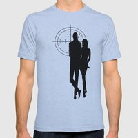 Double Oh Target... Mens Fitted Tee Athletic Blue SMALL