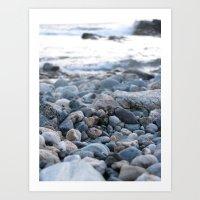 Only Pebbles Art Print