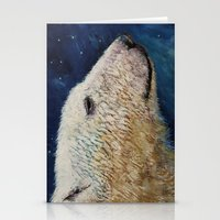 Polar Bear Stars Stationery Cards