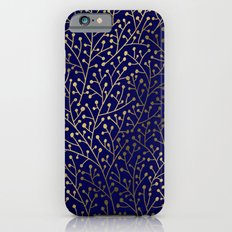 Gold Berry Branches On N… iPhone 6 Slim Case