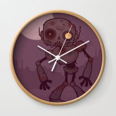Rusty Zombie Robot Wall Clock