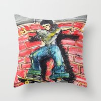 Bust A Move Throw Pillow