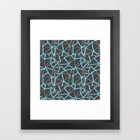 Ab 2 Repeat Blue Framed Art Print