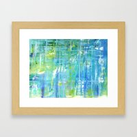 Greens and Blues Framed Art Print
