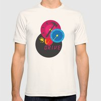 Drive Mens Fitted Tee Natural SMALL