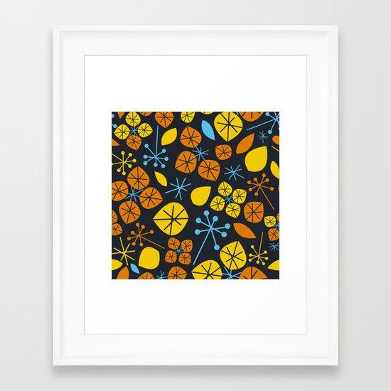 Leaf Scatters Framed Art Print