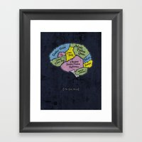The Geek Brain Framed Art Print