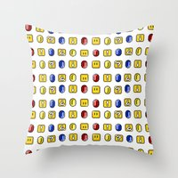 Coins, Boxes and Power ups, Oh my! Throw Pillow