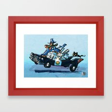 Use Verb on Noun #28: Sam & Max Hit The Road Framed Art Print
