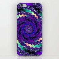 Purple Hurricane Fractal iPhone & iPod Skin