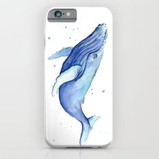 Humpback Whale Watercolor Painting   Whimsical Animal Art iPhone 6s Slim Case