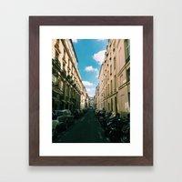 Spring in Paris - Le Marais Street Scene Framed Art Print