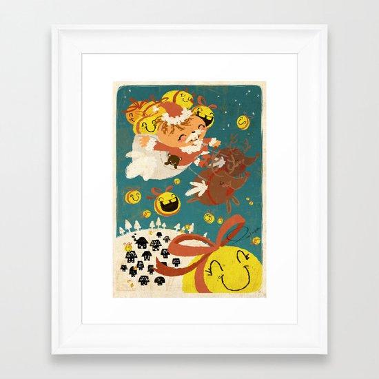 Merry Smiley Christmas to EVERYONE! Framed Art Print