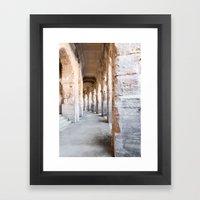 Roman Amphitheatre Arches in Arles. Framed Art Print