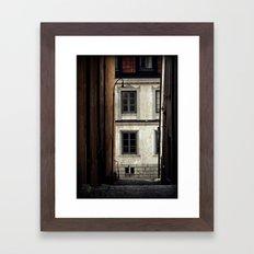 My town Framed Art Print