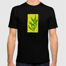 Leaf Shadow Black SMALL Mens Fitted Tee