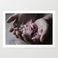The wild flowers grows here Art Print