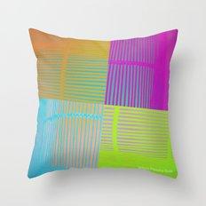 Di-simetrías Color Throw Pillow